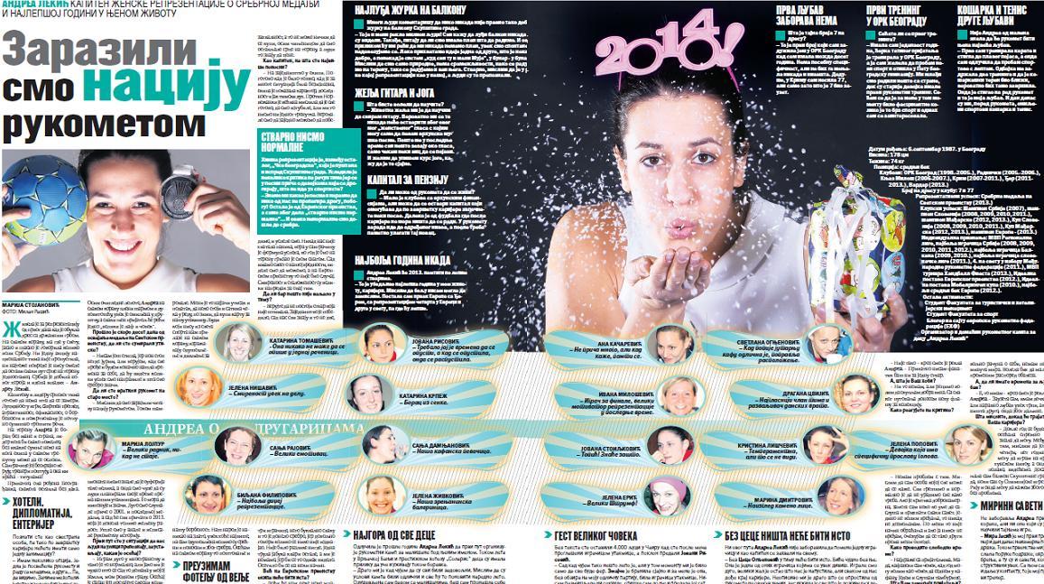 """Andrea za Žurnal: """"Zarazili smo naciju rukometom"""""""